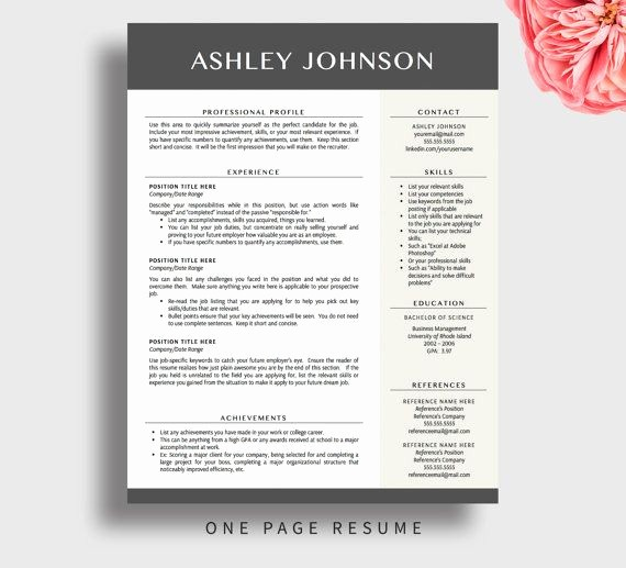 Download Free Professional Resume Templates New Professional Resume Template for Word and Pages 1 3