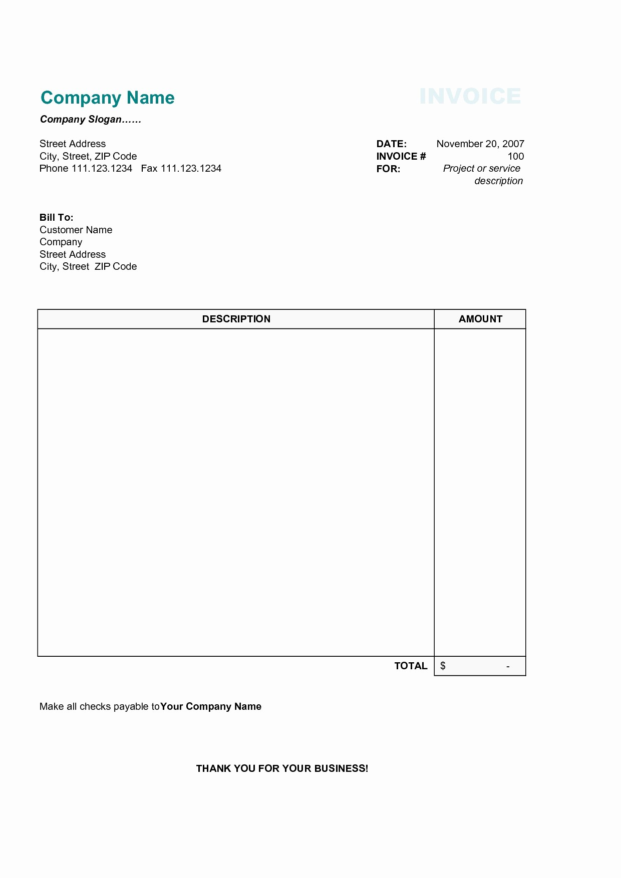 Download Invoice Template for Mac Luxury Word Document Invoice Template Mac Lovely Invoice Example
