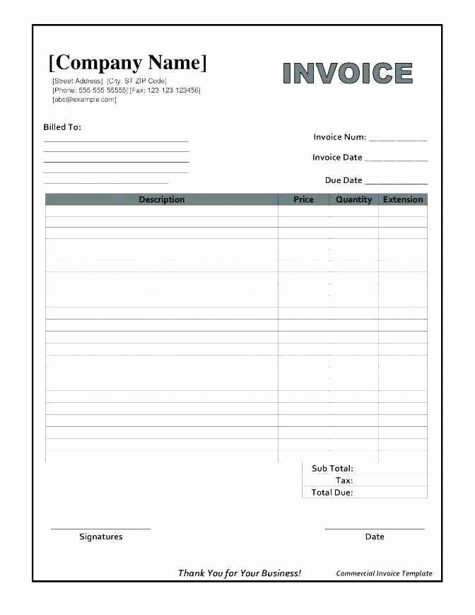 Download Invoice Template for Mac Unique Excel Invoice Template Free Mac Excel Invoice