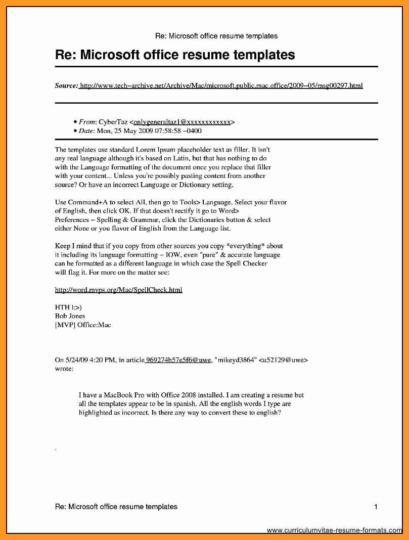 Download Microsoft Word Resume Template Awesome Microsoft Publisher Resume Templates