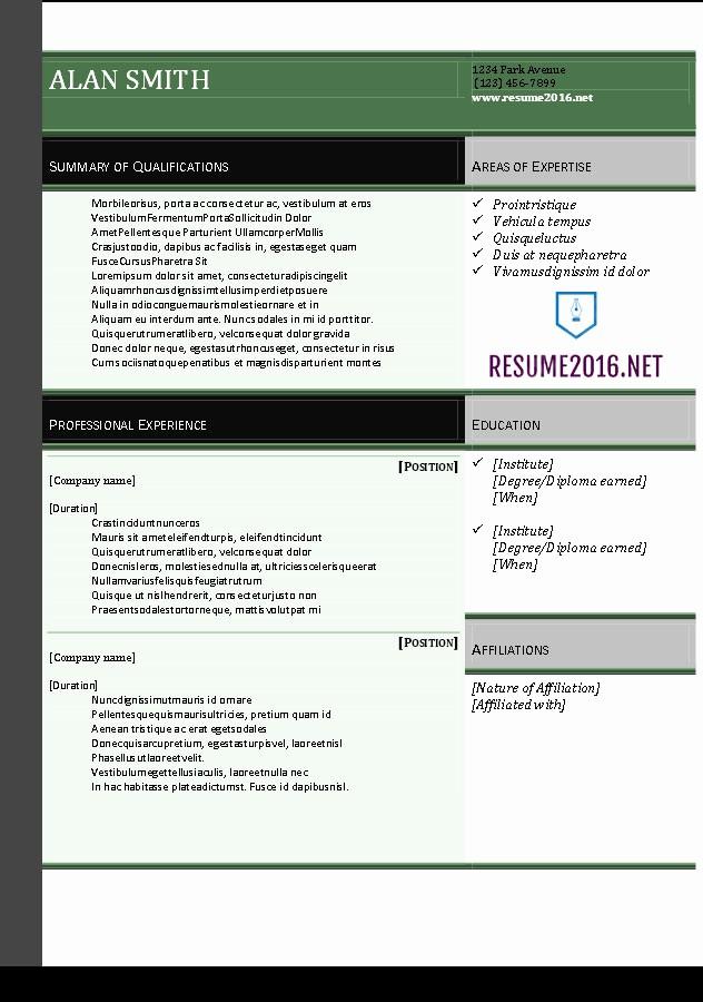 Download Microsoft Word Resume Template Best Of Resume 2016 Download Resume Templates In Word