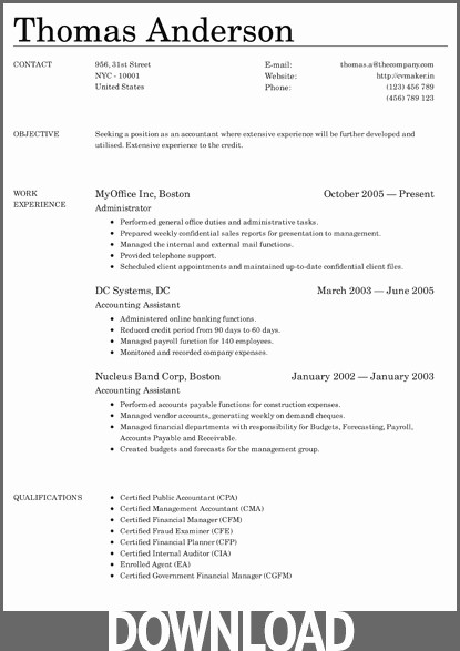 Download Microsoft Word Resume Template Inspirational Download 12 Free Microsoft Fice Docx Resume and Cv Templates