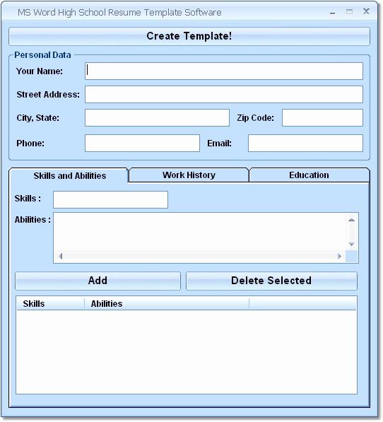 Download Ms Word Resume Template Luxury Download Ms Word High School Resume Template software 7 0