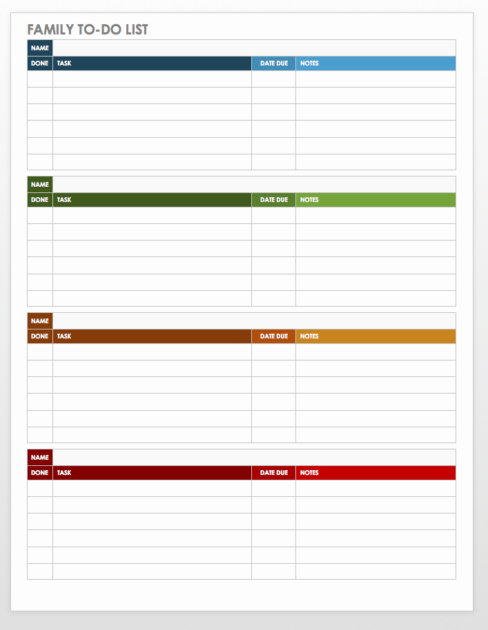 Download to Do List Template Unique Free Task and Checklist Templates
