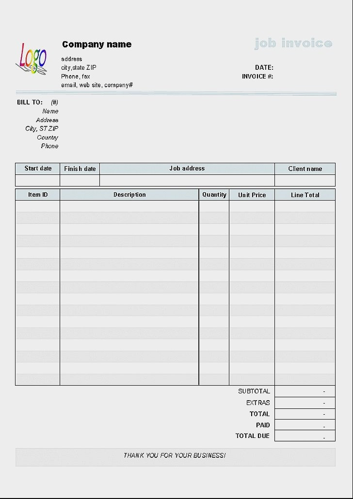 Downloadable Invoice Template for Mac Awesome Free Blank Invoice Template for Mac Fundraisera