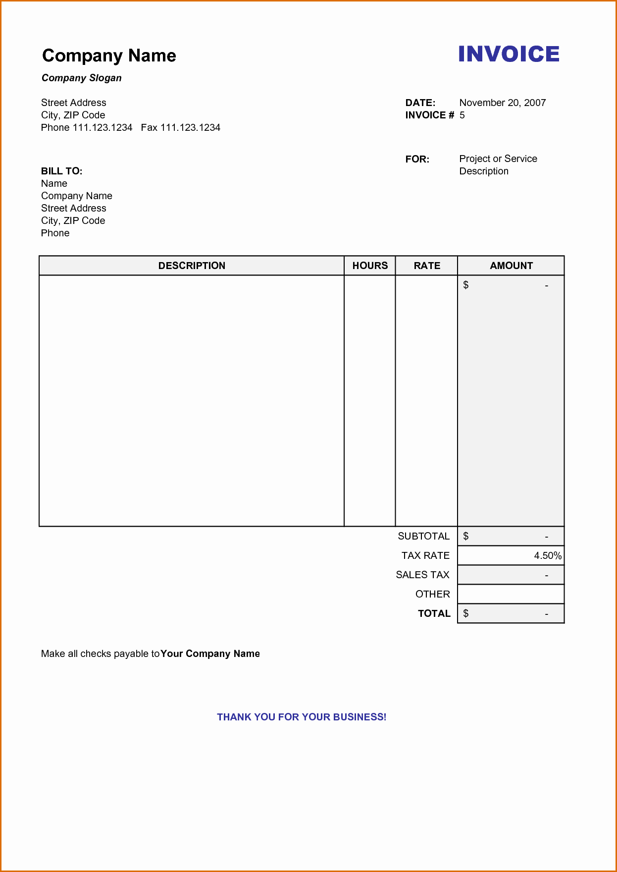Downloadable Invoice Template for Mac Luxury Blank Invoice Template Printable Yeni Mescale Co Resume