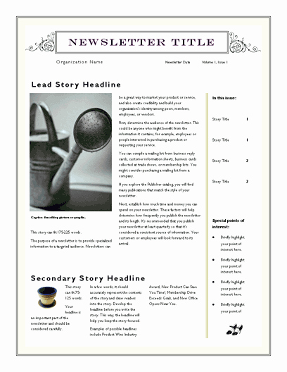 Downloadable Newsletter Templates for Word Awesome Free Newsletter Template for Word 2007 and Later