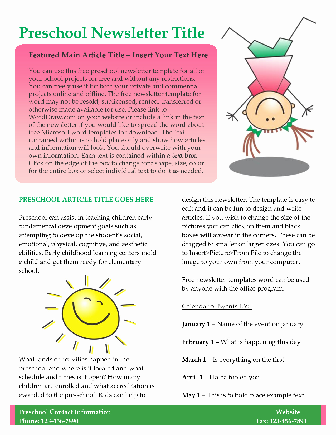 Downloadable Newsletter Templates for Word Beautiful 10 Best Of Newsletter Template Free Business
