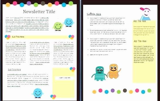 Downloadable Newsletter Templates for Word Beautiful Free Classroom Newsletter Templates Template 9 Word
