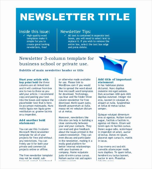 Downloadable Newsletter Templates for Word Best Of 8 Free Newsletter Templates Free Word Pdf Documents