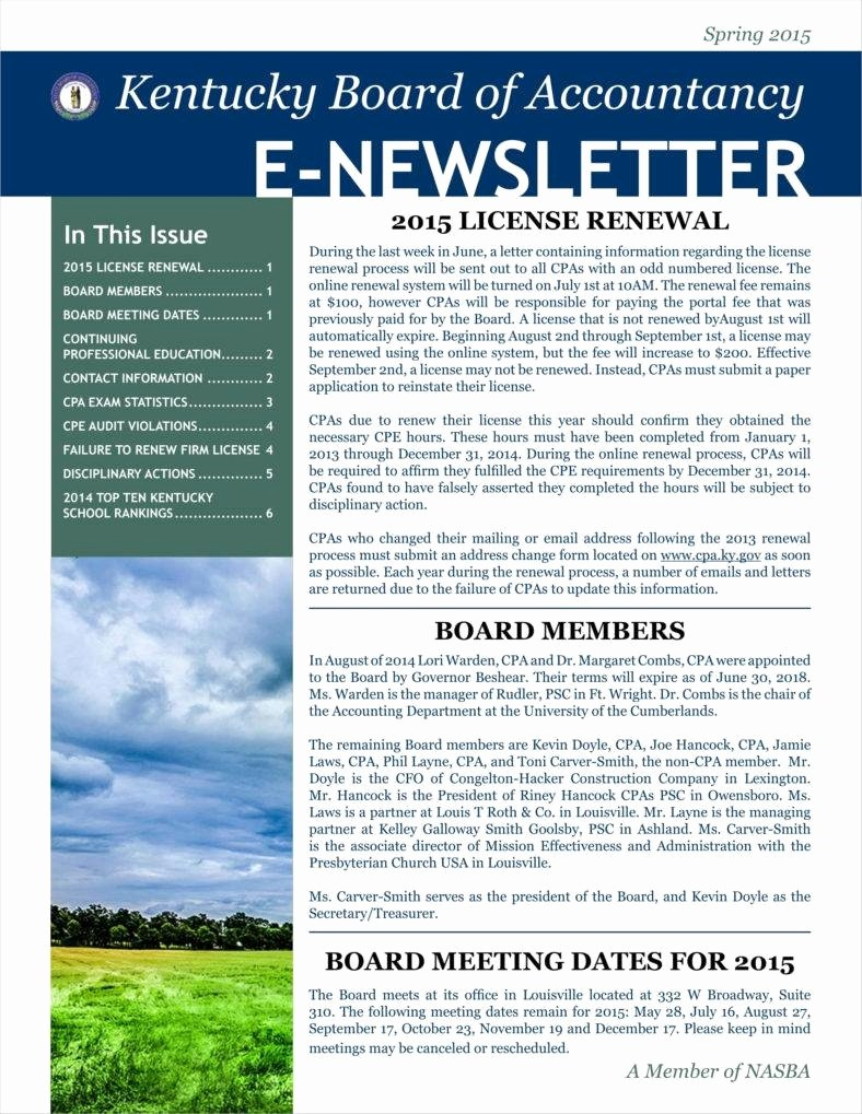 Downloadable Newsletter Templates for Word Fresh 9 Basic Newsletter Templates Free Word Pdf format