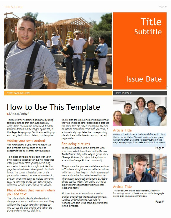 Downloadable Newsletter Templates for Word Inspirational 20 Fantastic Printable Newsletter Templates