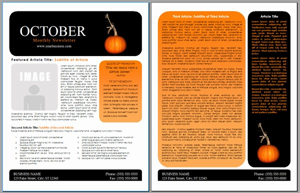 Downloadable Newsletter Templates for Word Inspirational Worddraw Free Halloween Newsletter Templates