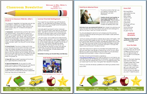 Downloadable Newsletter Templates for Word Lovely 9 Awesome Classroom Newsletter Templates & Designs