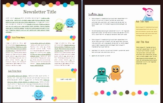 Downloadable Newsletter Templates for Word Lovely Free Newsletter Templates