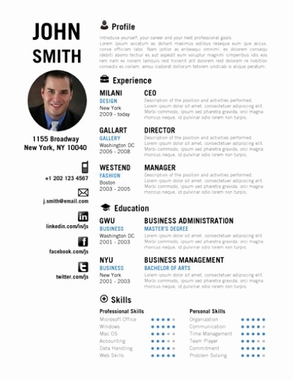 Downloadable Resume Template Microsoft Word Fresh Trendy top 10 Creative Resume Templates for Word [ Fice]