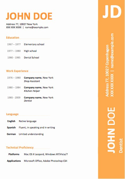 Downloadable Resume Template Microsoft Word Lovely 50 Free Microsoft Word Resume Templates for Download