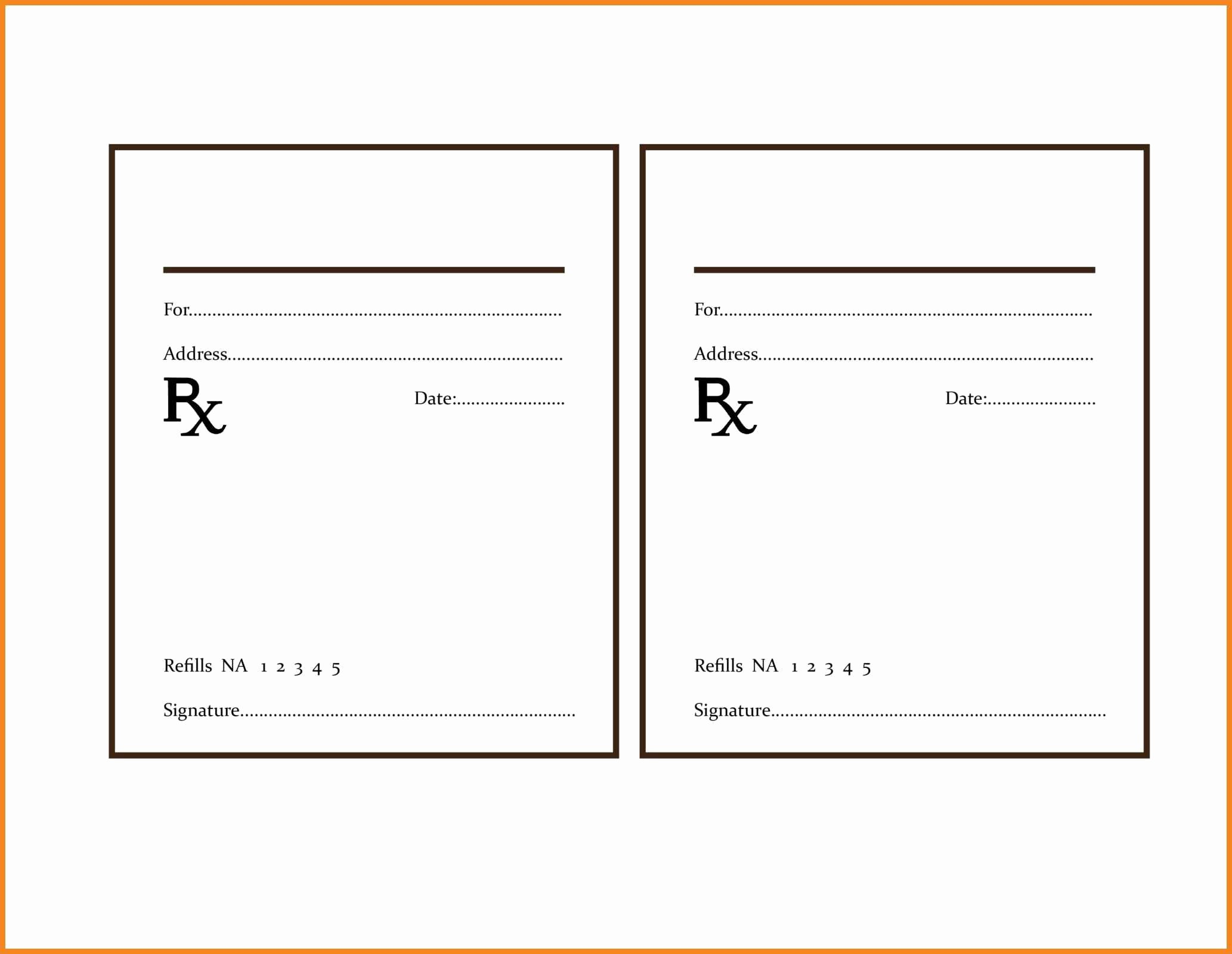 Drug Card Template Microsoft Word Inspirational Rx Template Templates Collections