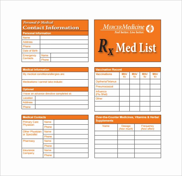 Drug Card Template Microsoft Word New 8 Medication Card Templates Doc Pdf