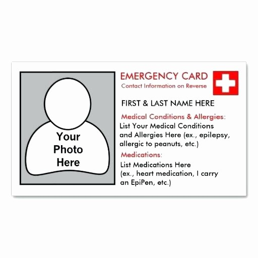 Drug Card Template Microsoft Word Unique Wallet Card Template Word Medication Emergency – Spitznasfo