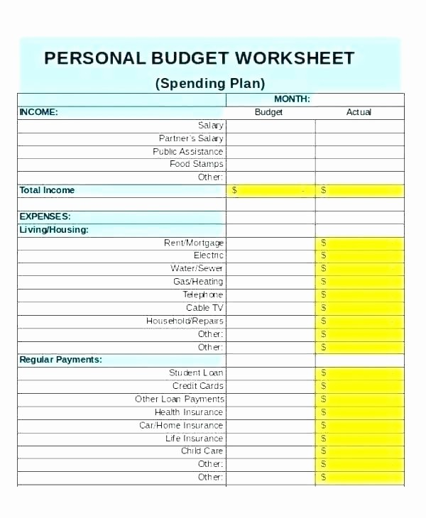Easy Budget Spreadsheet Template Free Lovely Personal Monthly Bud Template Excel – Edunova
