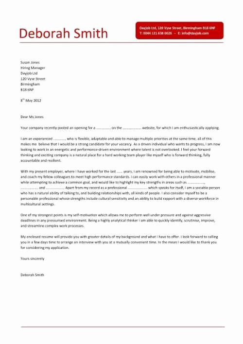 Easy Cover Letter for Resume Lovely Simple Cover Letter Design that is Clear Concise and