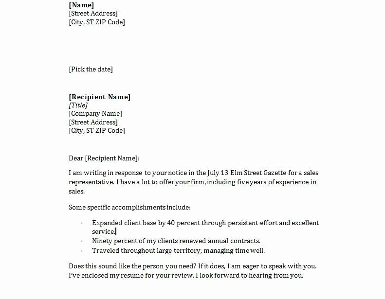 Easy Cover Letter for Resume Luxury Simple Resume Cover Letter Samples – Dew Drops