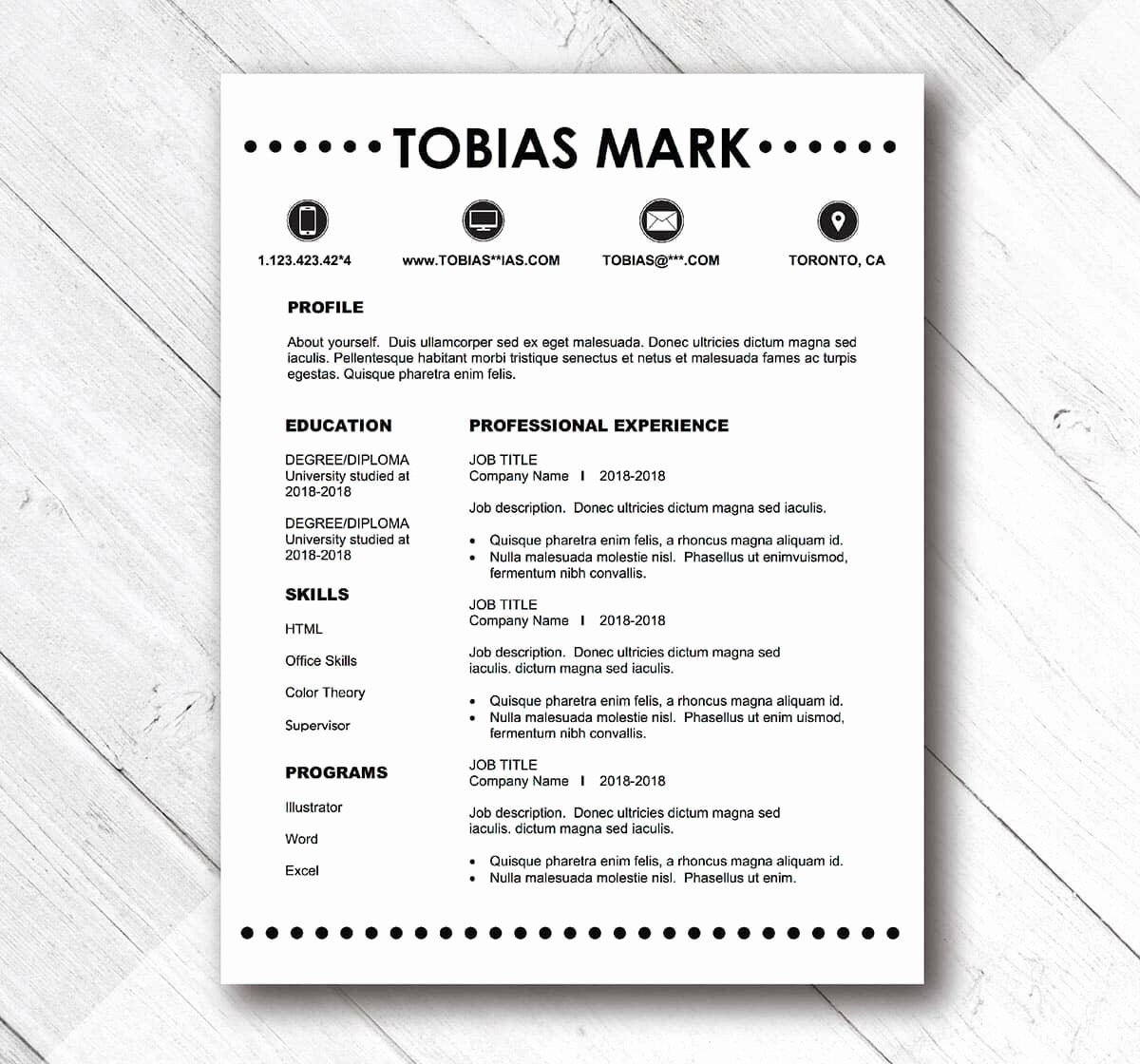 Easy P&l Template Luxury Simple Resume Templates 15 Examples to Download & Use now