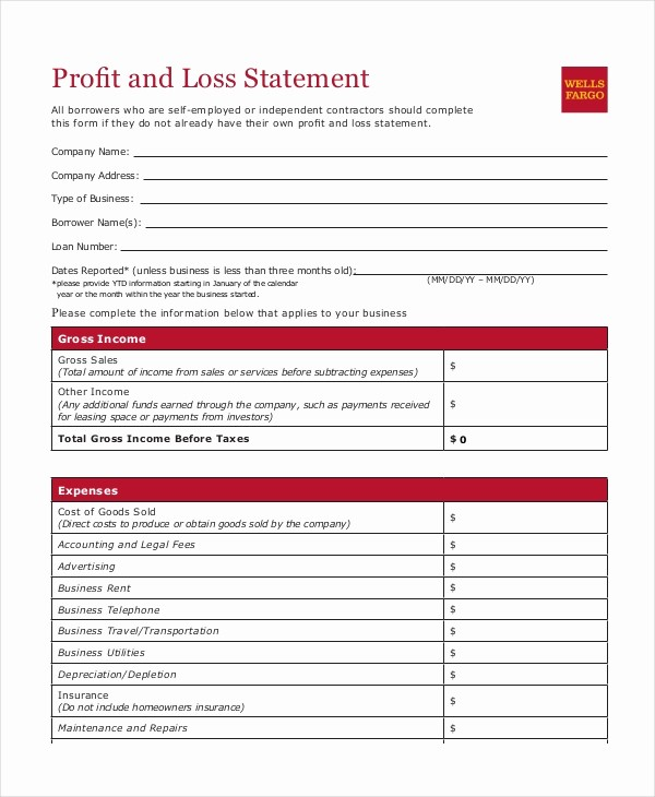 Easy Profit and Loss Template Lovely Profit & Loss Statement Template 9 Free Pdf Excel