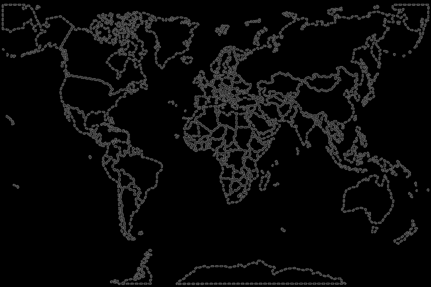 Edit Map Of the World Best Of Map Of the World without Countries Labeled