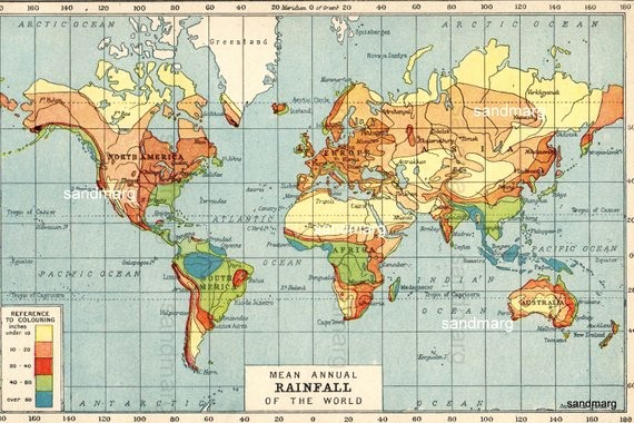Edit Map Of the World Lovely Mean Annual Rainfall Map Of the World 1921 Climate Change
