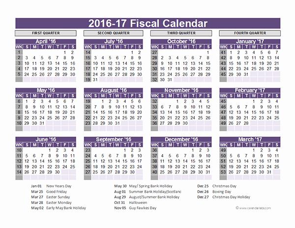 Editable Calendar 2016-17 Awesome 2016 Fiscal Year Calendar Uk 03 Free Printable Templates