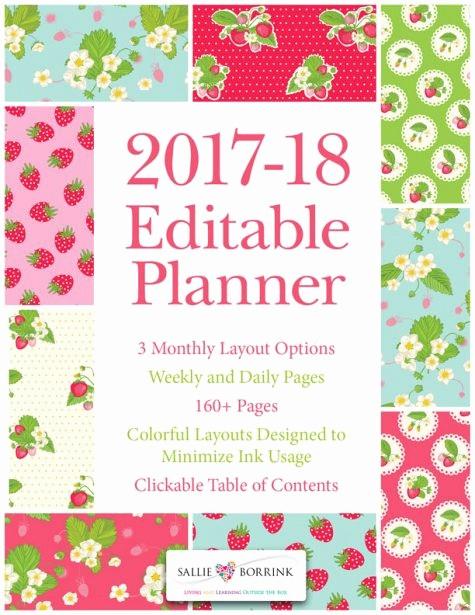 Editable Calendar 2016-17 Best Of Printable Planner 2017 Pink Vintage Flowers