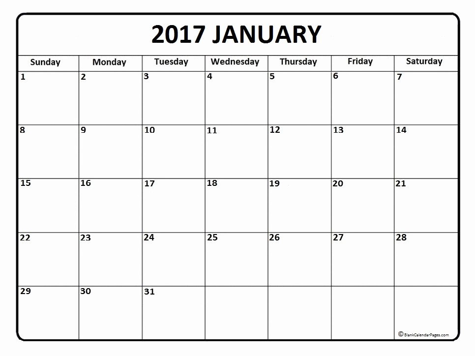 "Editable Calendar 2016-17 Elegant Search Results for ""blank January Calendar Template"