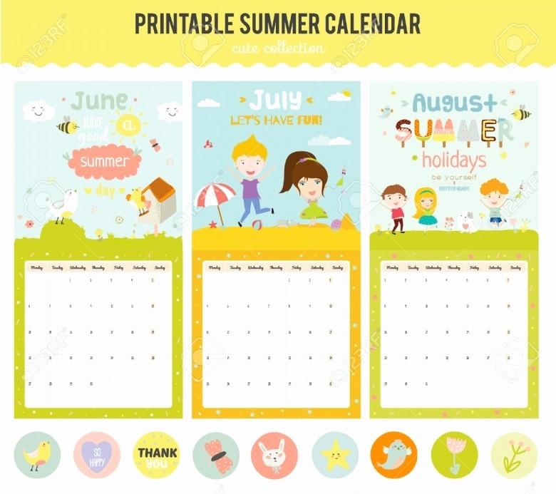 Editable Calendar 2016-17 Unique Summer Calendar 2016 Template Free Calendar Template