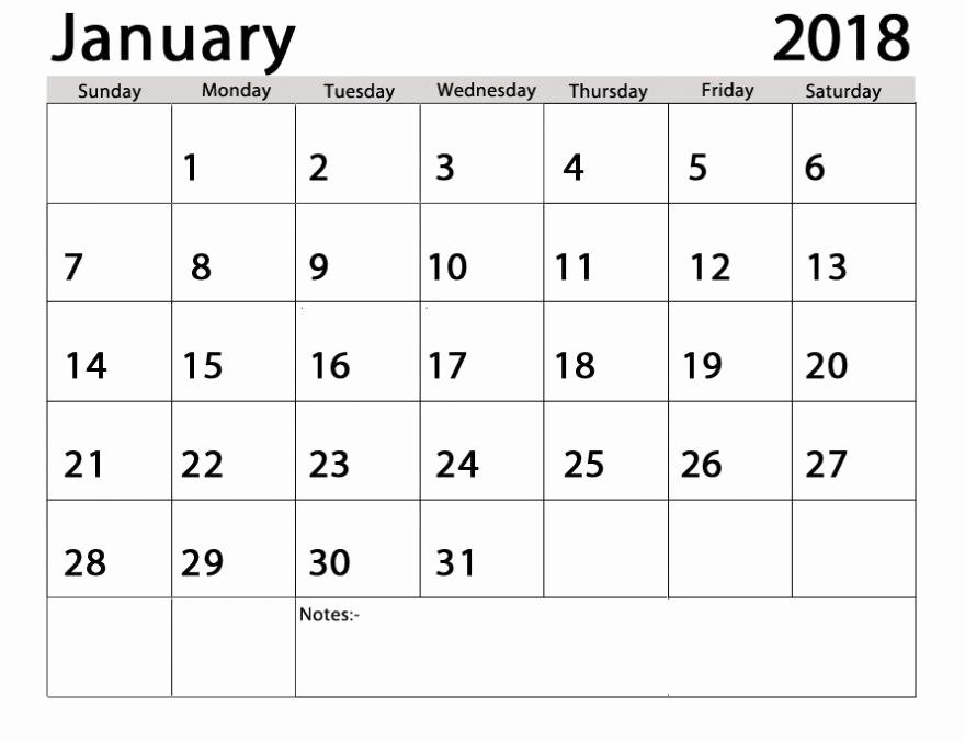 Editable Calendar 2017-2018 Beautiful Printable January 2018 Calendar Archives Printable