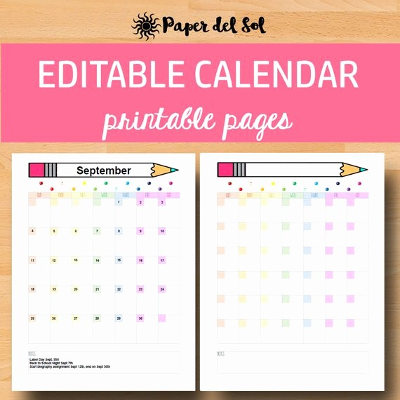 Editable Calendar 2017-2018 Best Of Printable Calendar 2017 2018 Editable Calendar Monthly