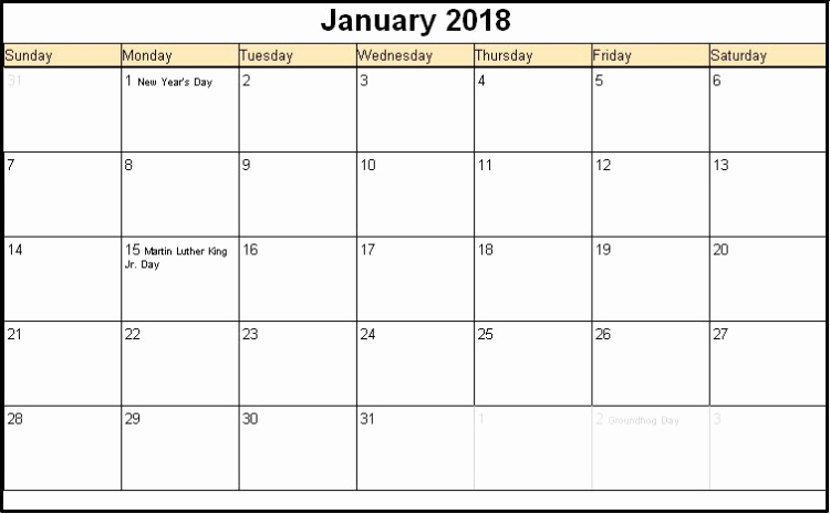 Editable Calendar 2017-2018 Best Of Printable January 2018 Calendars Editable