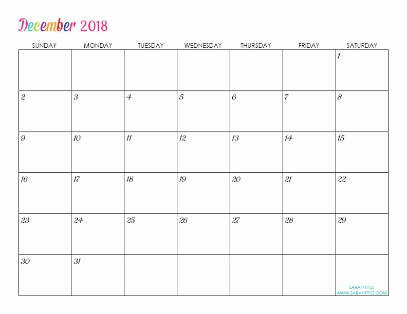 Editable Calendar 2017-2018 Lovely Custom Editable Free Printable 2018 Calendars Sarah Titus