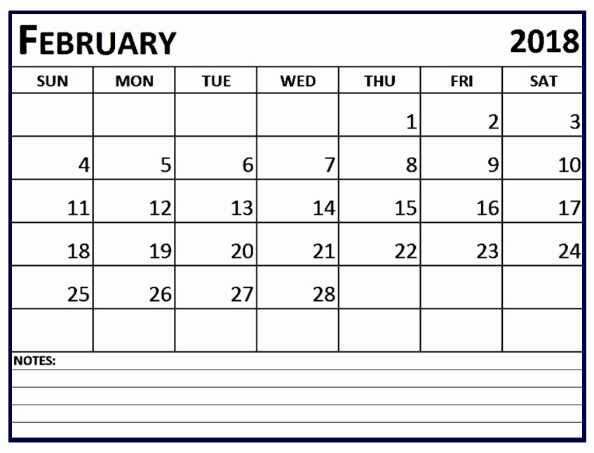Editable Calendar 2017-2018 Lovely February 2018 Calendar Editable
