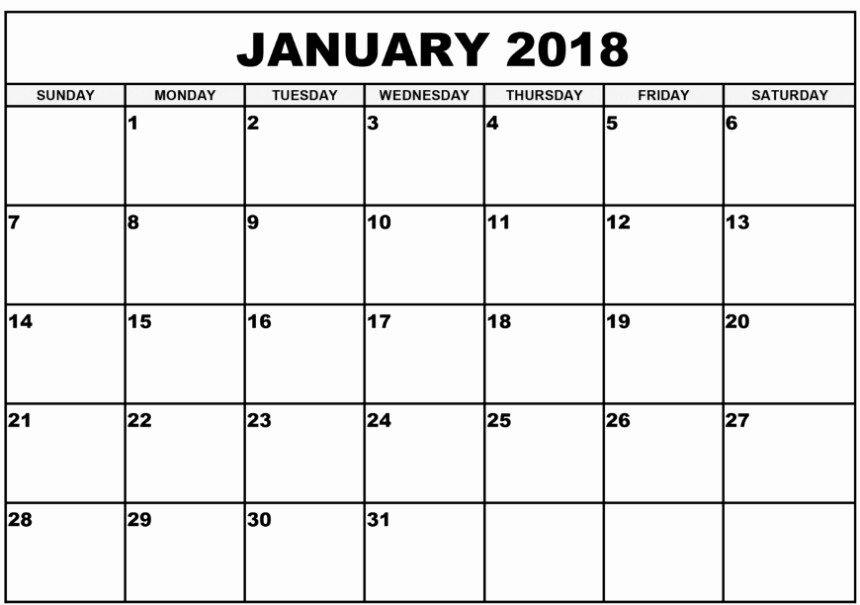 Editable Calendar 2017-2018 Lovely Printable January 2018 Calendar Archives Printable