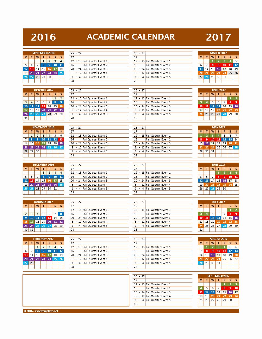 Editable Calendar 2017-2018 Luxury 2017 2018 and 2016 2017 School Calendar Templates