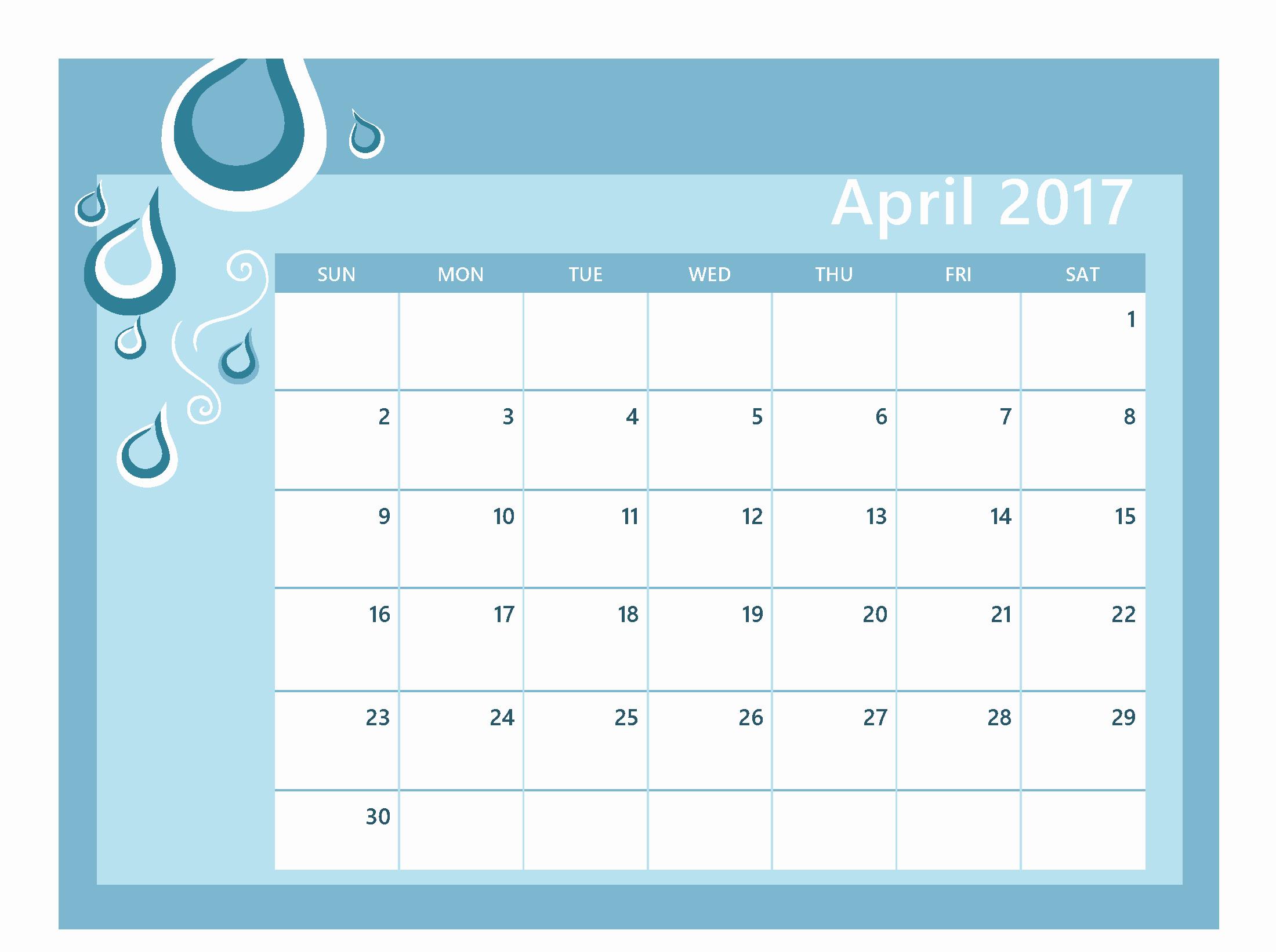Editable Calendar 2017-2018 Luxury April 2017 Calendar Editable Calendar and