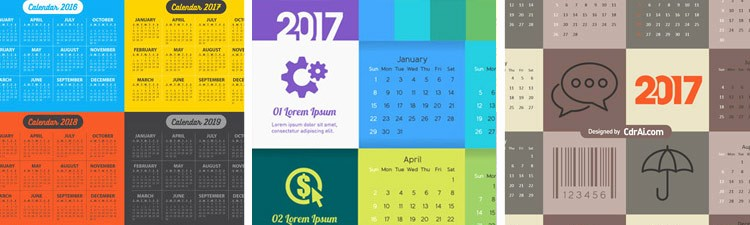 Editable Calendar 2017-2018 New Calendar 2015 2016 and 2017 Fully Editable Vecto2000