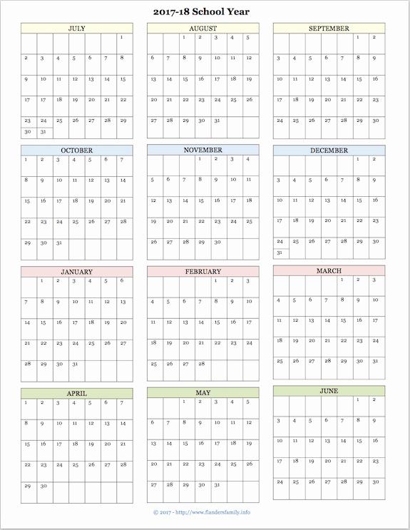 Editable Calendar 2017-2018 Unique 2017 2018 School Calendar
