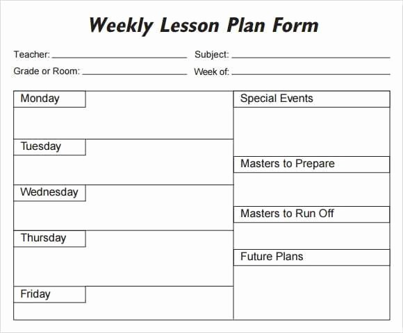 Editable Lesson Plan Template Word Fresh 5 Free Lesson Plan Templates Excel Pdf formats