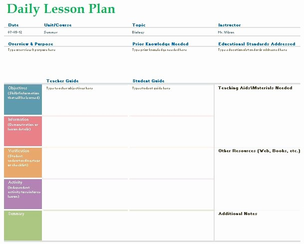 Editable Lesson Plan Template Word Lovely Editable Daily Lesson Plan Template