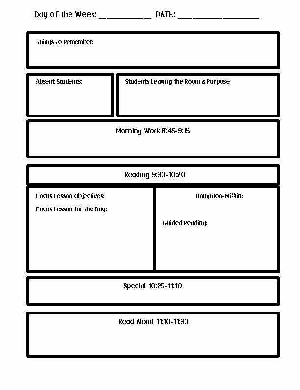 Editable Lesson Plan Template Word Luxury Lesson Plan Template Word