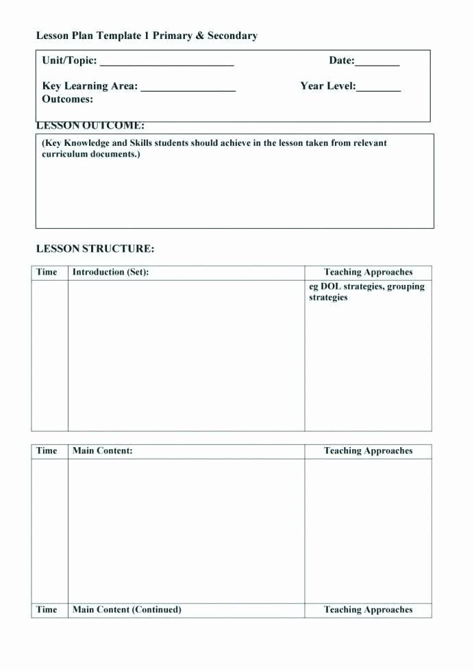 Editable Lesson Plan Template Word Unique Unit Plan Template Word