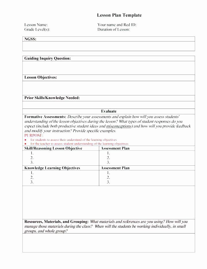 Editable Lesson Plan Template Word Unique Weekly Lesson Plan Template 8 Free Word Excel format